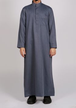 Saudi thobe with mandarin Collar - Thobe London