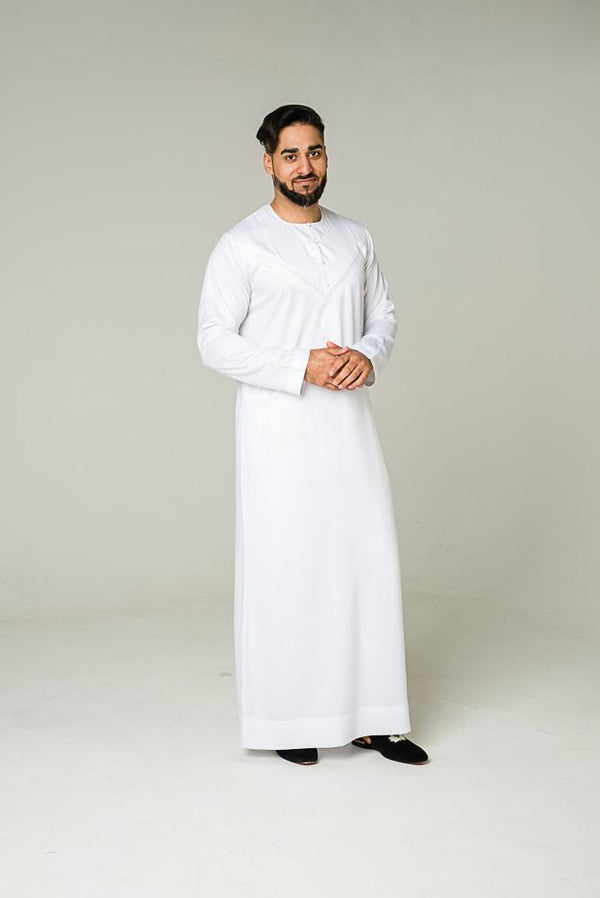 White Emirati thobe - Thobe London
