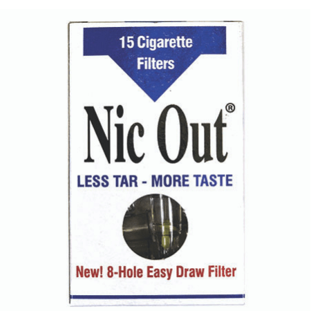 Nic Out 15-Piece Cigarette Filters - 24 Pack Display Case