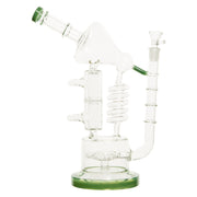 "12"" Crazy Scientist Spiral Glass Percolator Bong"