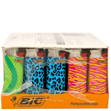 Bic Mini Lighters Animals Series - 50 Pack