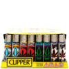 Clipper Oriental Leaves Lighters - 48 Pack