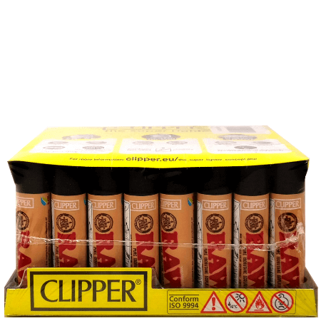 Clipper Raw Lighters – 48 Pack Display Case