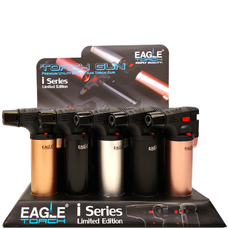 Eagle i Series Butane Torch Gun – 15 Pack Display Case