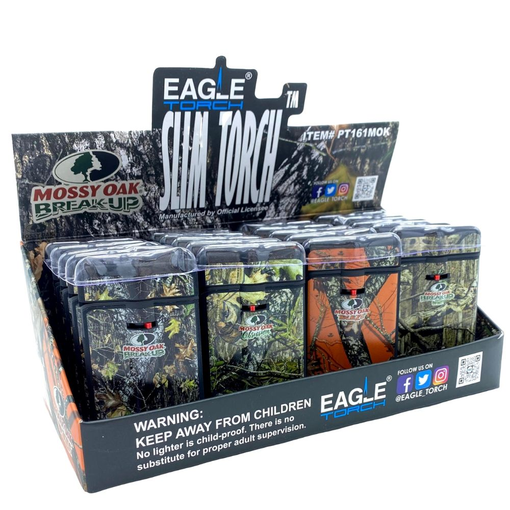 Eagle Torch Lighter Slim Mossy Oak - 20 Pack