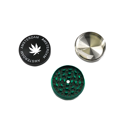 Black Amsterdam 52mm 3-Piece Grinder