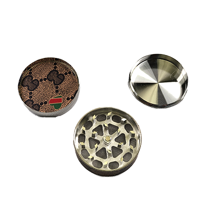 Assorted Patches 52mm 3-Piece Grinder