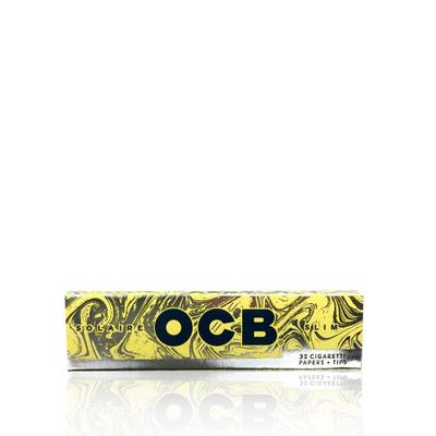 OCB Solaire Slim Rolling Papers & Tips - 24 Pack Box