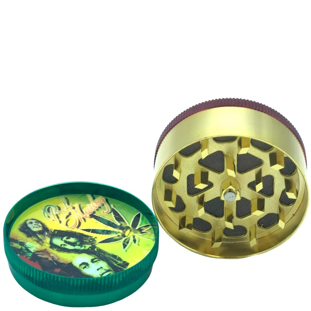 Arsenal Bob Marley 52mm 3-Piece Grinder