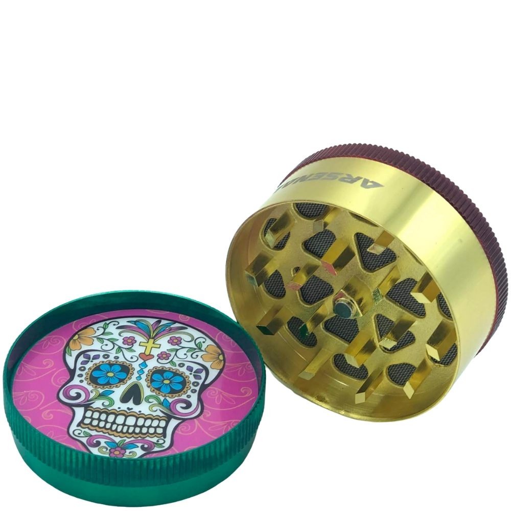 Arsenal Sugar Skull 52mm 3-Piece Grinder