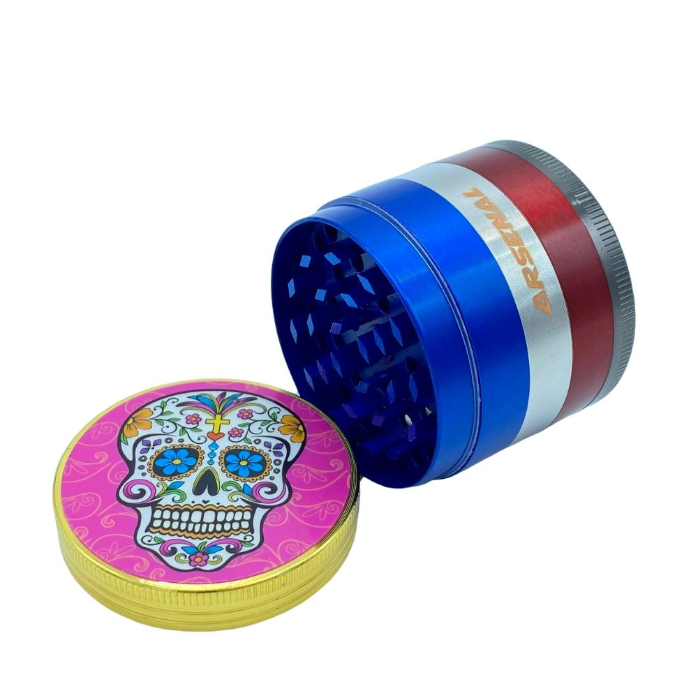 Arsenal Sugar Skull 52mm 5-Piece Grinder