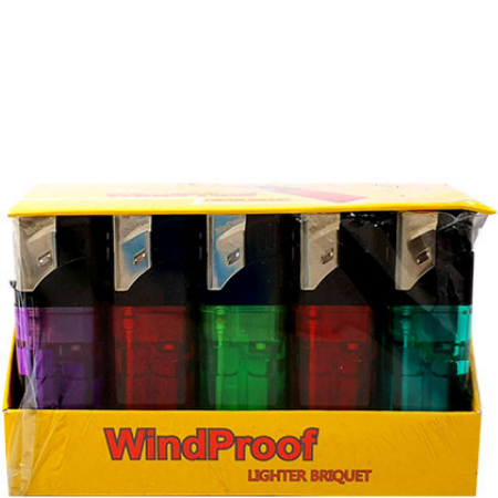 Windproof Lighters – 25 pcs Display Case