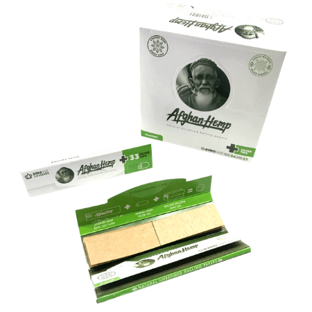 Afgan Hemp Classic King Size Rolling Papers & Filter Tips - 24 Pack Box