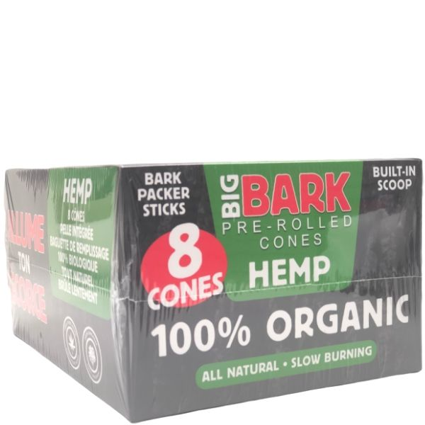Big Bark Hemp 1 1/4 Size Pre-rolled Cones - 24 Pack