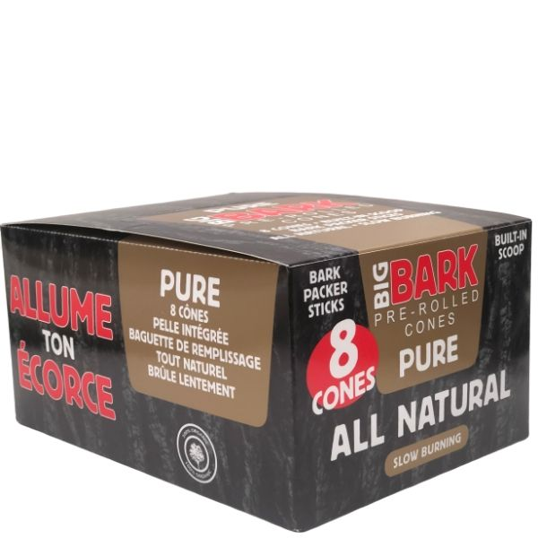 Big Bark Pure 1 1/4 Size Pre-rolled Cones - 24 Pack