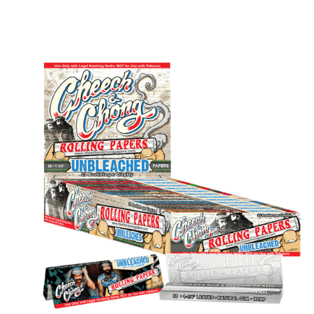 Cheech & Chong Unbleached 1 1/4 Rolling Papers – 25 Booklets Pack