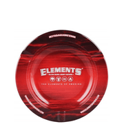 Elements Red 5.5″ Round Metal Ashtray