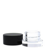 5ml Thick Bottom Black Plastic Screw Top Lid Glass Jar - 320 pcs