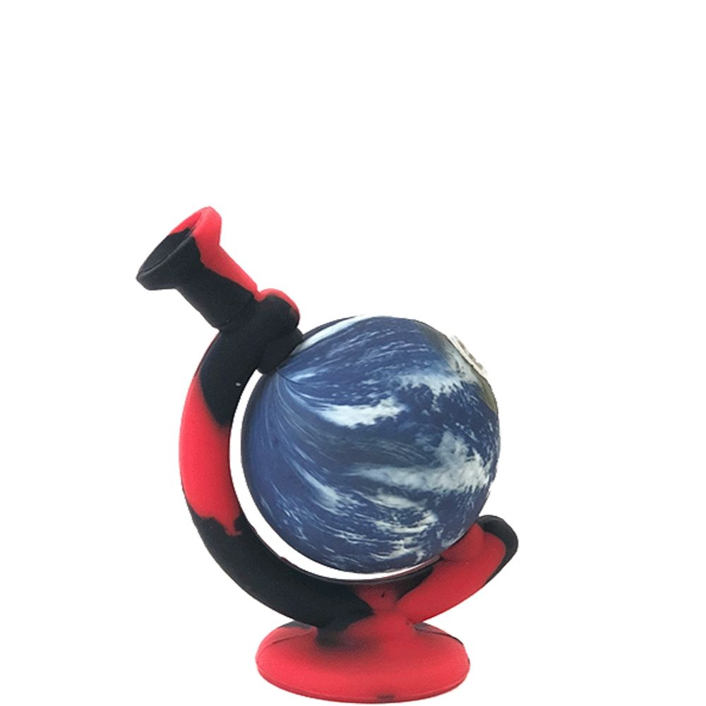 Globe Silicone Bong with Bowl - Assorted Colours