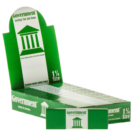 Government Green 1 1/4 Rolling Papers - 25 Pack Box