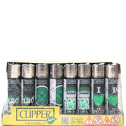 Clipper Green Leaves Lighters - 48 Pack