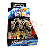 5″ Mini Glass Hookah Display Case - 12 Pack