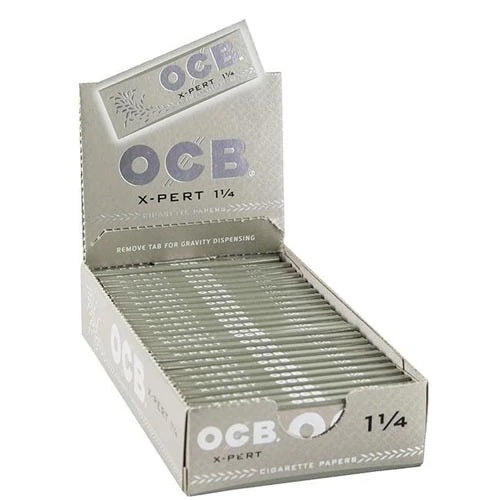 OCB X-Pert 1 1/4 Rolling Papers - 25 Pack Box