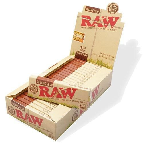 Raw Organic Hemp 1 1/4 Rolling Papers - 24 Pack Box