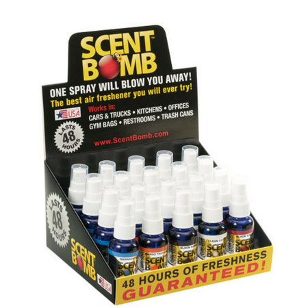 Scent Bomb Bottles - 20 Assorted Scents Display Case