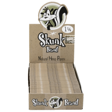 Skunk Hemp Slow Burning 1 1/4 Rolling Papers – 25 Pack Box