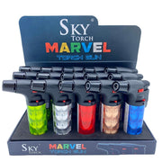 Sky Torch Gun Lighter Marvel - 15 Pack