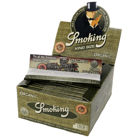 Smoking Unbleached King Size Organic Rolling Papers - 50 Pack Box