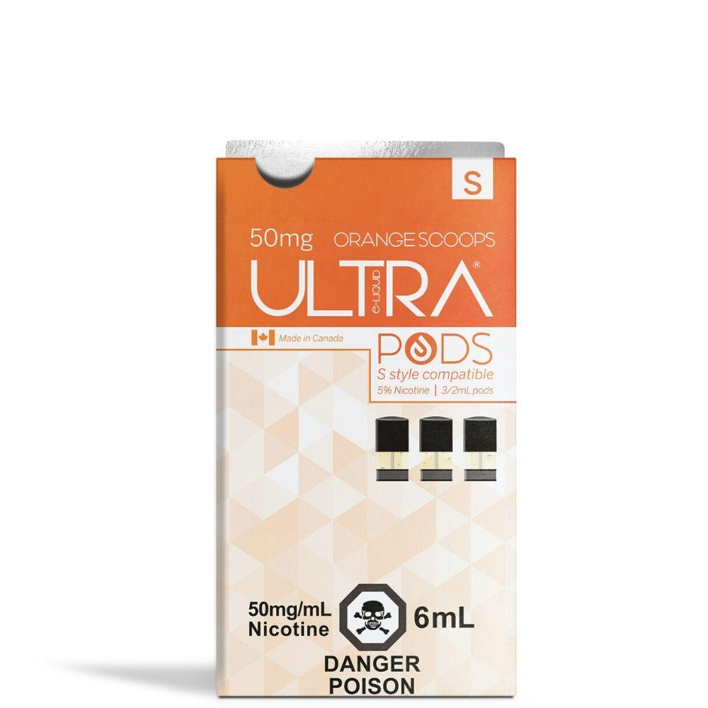 Ultra Pods STLTH Compatible 3.5% Strength - Orange Scoops Flavour