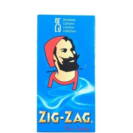 Zig Zag Blue Slow Burning Rolling Papers - 25 Pack Box