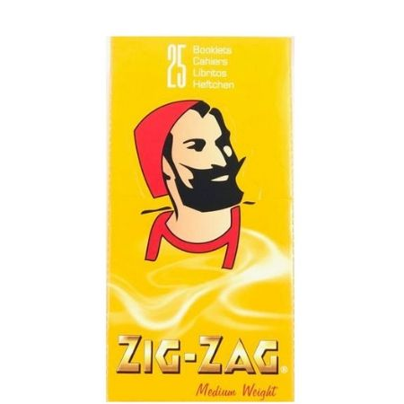 Zig Zag Yellow Medium Weight Rolling Papers – 25 Pack Box