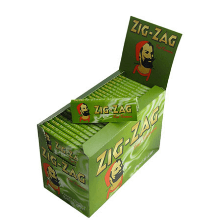 Zig Zag Green Single Cigarette Papers - 100 Pack Box