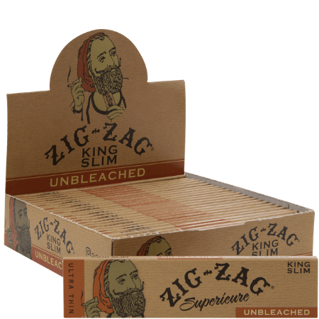 Zig Zag Unbleached KS Slim Papers - 24 Pack