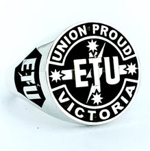 Load image into Gallery viewer, ETU Victoria Members Ring, 20mm
