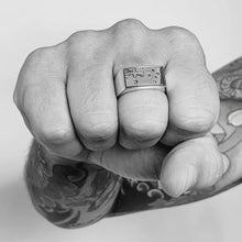 Load image into Gallery viewer, Australian Flag Gents Ring Engraved - Solid Sterling Silver