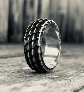 Dragon Scale Ring, Silver