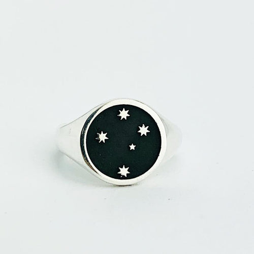 Southern Cross Signet Ring, Silver