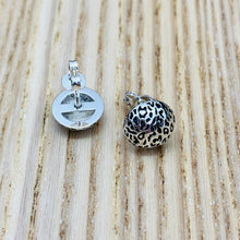 Load image into Gallery viewer, Leopard Print Stud Earrings, Silver (Small)