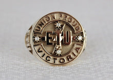 Load image into Gallery viewer, ETU Victoria Members Ring, 20mm with Diamonds