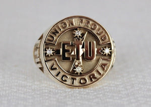 ETU Victoria Members Ring, 20mm with Diamonds