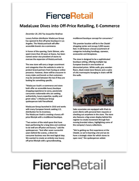 FierceRetail: MadaLuxe dives into off-price retailing, e-commerce