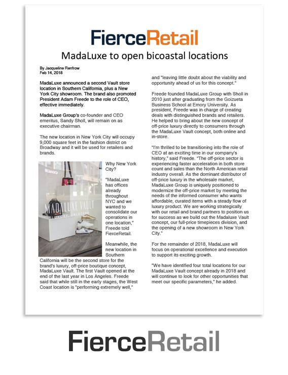 Fierce Retail: MadaLuxe to open bicoastal locations
