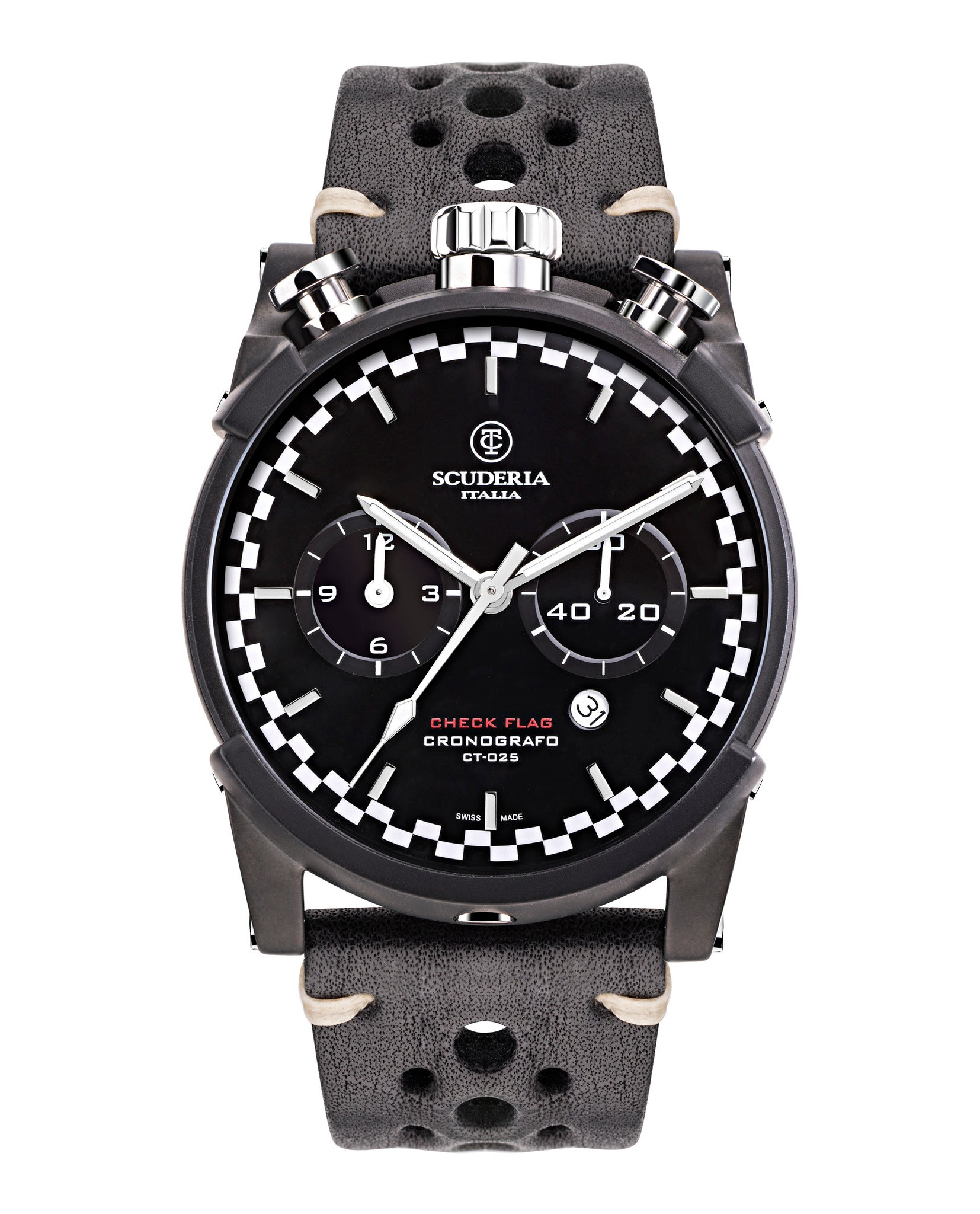 CT Scuderia Check Flag Watch