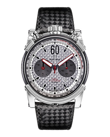 Bullet Head Carbon Fiber Chronograph Leather Watch