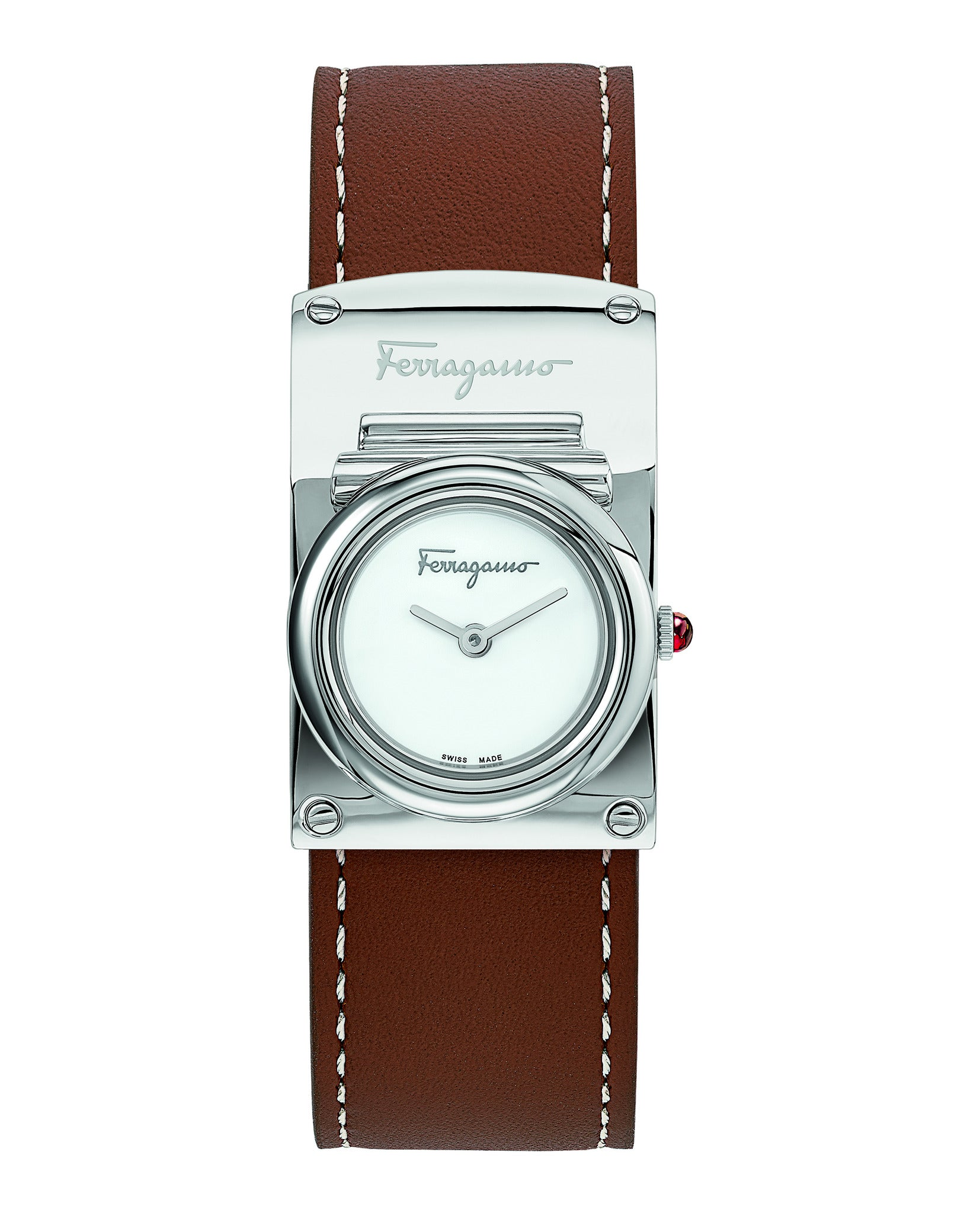 Ferragamo Boxyz Leather Watch