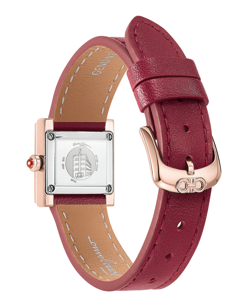 Ferragamo Square Leather Watch